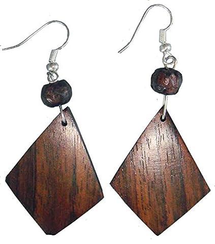 Boucles d'oreille en bois