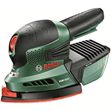 """Bosch Ponceuse multifonction""""Universal"""" sans fil PSM 18 LI outil seul sans batterie avec 3 feuilles abrasives, technologie Syneon 06033A1301"""