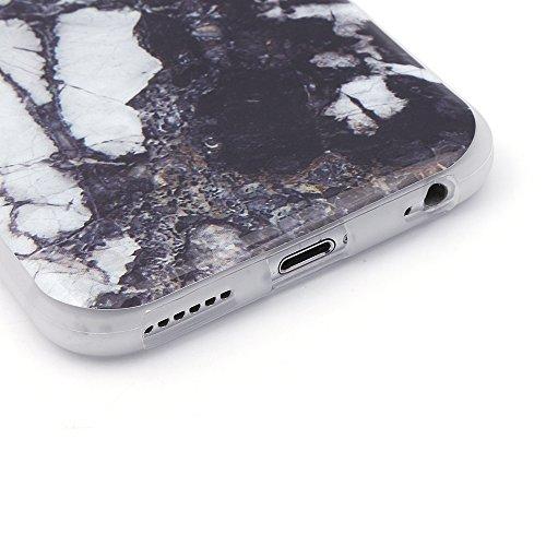 iProtect TPU Schutzhülle Apple iPhone 6 Plus / 6s Plus Softcase Hülle Marmor Edition in weiß schwarz dezent marmoriert Marmoriert weiß anthrazit