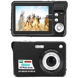 Appareil Photo Numérique,CamKing 2,7 Pouces TFT LCD HD Mini Zoom Caméra, 8X Digital Caméra Vidéo Numérique pour Les étudiants, Les Enfants, Les Adultes (Noir)