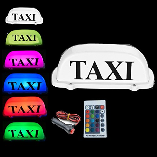 New RGB Taxi Top Light Change/Car LED Schild Dach Dome Light 12V mit Magnetfuß 3m Zigarettenanzünder Stecker Line
