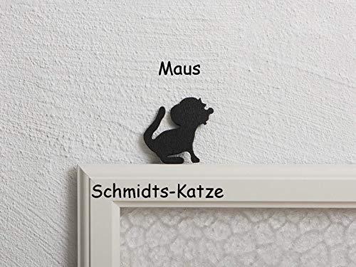 NEU! Maus aus Holz als Kantenhocker in schwarz