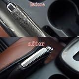 Wylore 1Chrom Edelstahl Feststellbremse Rahmen Innenausstattung Cover Aufkleber Passgenau für Chevrolet Trax 201320142015