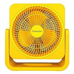 Crompton Bubbly 200mm table Fan (Yellow)