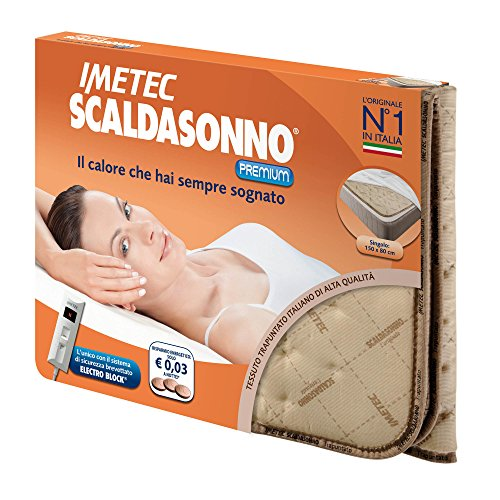 Imetec 6001D Scaldasonno Premium, Tessuto Trapuntato, Scaldaletto Singolo