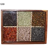 Florishkart Hand Crafted Handmade Antique & Vintage Sheesham Wood Multi-Colour Gem Stone Wood Work Tea & Coffee Serve Tray For Home & Kitchen Décor Tableware