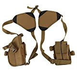 Etophigh Doppel-Schulterholster,Militär-Nylon Vielseitige Axillar-Pistolenholster Pistolenhalfter Taktische Unterarm-Schulter Double Draw Pistol
