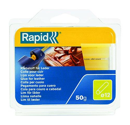 Rapid, 40107354, Bâtons de colle thermofusible, Pour cuir, Jaune, ø12mm, Longueur 94mm, 50g