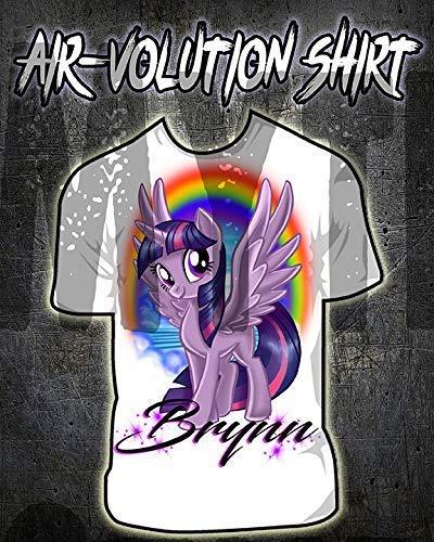 onalisierte Airbrush My Little Pony Twilight Sparkle-Hemd Kinder- / Erwachsen-Größen Weiß ()