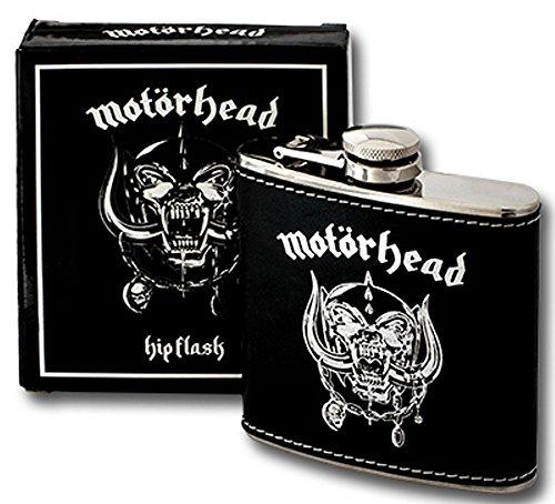 Logo-rockband (Motörhead - Rock Band Flachmann (Motörhead England Logo) verpackt in einer Geschenkbox)