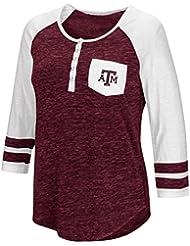 "Texas A&M Aggies NCAA Women's ""Inconceivable"" 3/4 Sleeve Henley Shirt Chemise"