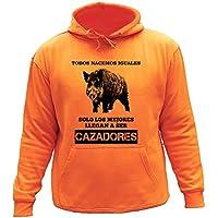 Sudadera con capucha, Todos nacemos iguales, solo los mejores llegan a ser cazadores (M, Orange,30142)