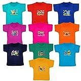 Fashion Biz Boys Half Sleeve Printed Tops Multicolor 100% Cotton Collection Seasonable & Fashionable Wear (Pack Of 10)
