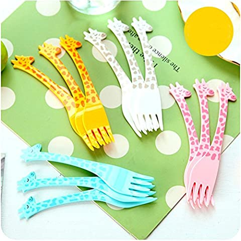 Y & B Fruits et nourriture de fourche, 12 pieces-giraffe