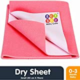 Bey Bee Just Dry Baby Care Waterproof Bed Protector Sheet - Small (Salmon Rose)