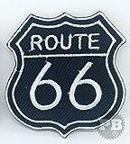 US Route 66Auto Motorrad Biker Jacke Motiv Eisen auf bestickt Patch