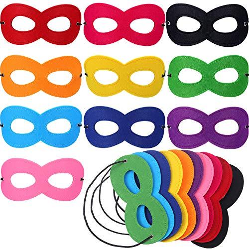 Jovitec 50 Packung Hero Masken Augenmasken Maskerade Masken -