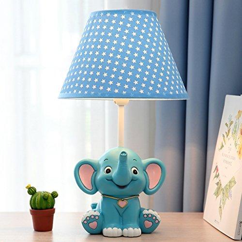 mpe Schlafzimmer Nachttisch Lampe Cartoon Kreative Mode Junge Cute Little Elephant Geschenk kann abgeblendet werden ( Farbe : Blau ) (Cartoon-dekorationen)
