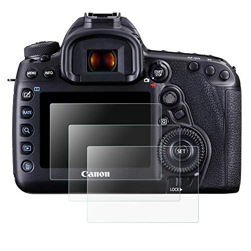 Mwoot 3 Stück Schutzfolie aus Glas für Canon EOS 5D Mark IV 5D4 5DIV 5DS 5DS-R,9H Härte Kratzfest Displayschutzglas