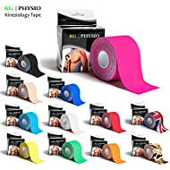 KG Physio Kinesiology Tape - Uncut Muscle Support Tape - 5cm x 5m roll - 12 colours of premium quality available for sports injury