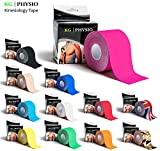 KG Physio Kinesiology Tape Pink - Uncut Muscle Support Tape - 5cm x 5m roll - 12 colours available! Images are exact photos of our products for accurate colour representation (Pink)