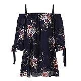 Tops Damen Blumenmuster Oberteile DOLDOA T-Shirt Bluse Langeshirt Große Größen