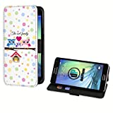 deinPhone Samsung Galaxy S5 Mini Kunstleder Flip Case Eulen Happy Family