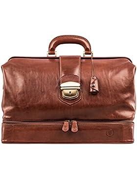 Maxwell-Scott® Luxus Leder Arzttasche (DonniniL)