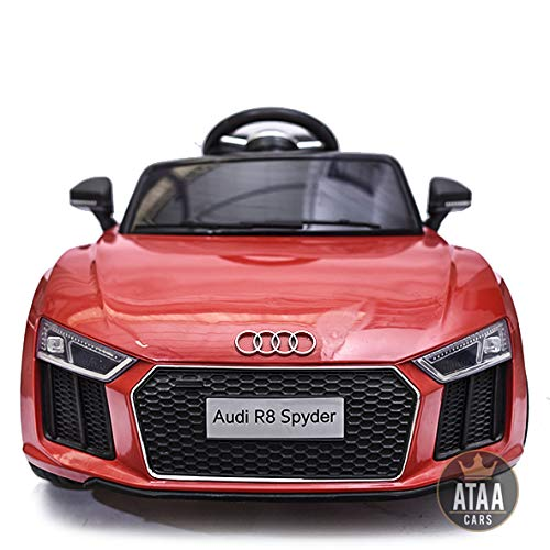 ATAA CARS Audi R8 Spyder - Séige en Cuir, clés, eva -Voiture électrique pour Enfants et Filles...