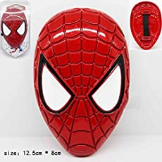 Marvel Avengers Heavy Metal Face Mask Style Shining Shield Hand Accessory with Strap to hold 10-12 cms For Kids / Adults (Spiderman)