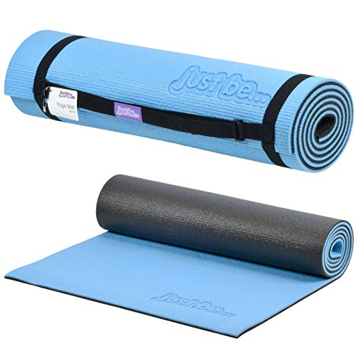 Just be.® Esterilla Yoga - 180cm - Espuma de 10mm de Grosor - Azul/Negra