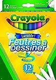 Crayola 03.7509DM - 12 Supertips Filzstifte einfach auswaschbar