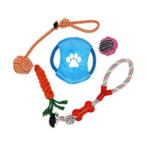 fish Puppy Dog Pet Chew Spielzeug-Geschenk-Set Pet Rope Spielzeug Baumwolle saubere Zähne für kleine bis mittlere Hunde (zufällige Farbe) Corn-cob-form