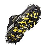 Steigeisen Schuhe Spikes Schneekette Silikon Anti-Rutsch Spikes 1 Paar mit 8 oder12 Zähne Klauen Edelstahl Kette für Outdoor Ski Eis Schnee Wandern Klettern