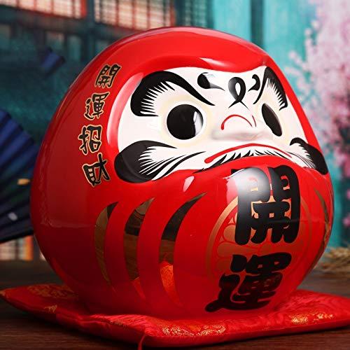 Fine-X Cerámica Japonesa Daruma Money Box Fortune