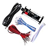 Hikig Codificador y cables USB Zero Delay Arcade (5 pin - 4.8 mm - 2.8 mm) Kit para joystick y botones para juegos de PC y Raspberry Pi