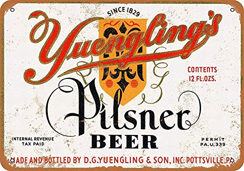 Wise Degree Metal Poster Yuengling's Pilsner Beer Metall Poster Wand Küche Kunst Cafe Garage Shop Bar Dekoration -