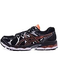 Hombres de luz acolchado Gel Nimbus 16Trail carretera competición deportiva de Running Zapatos Calzado Zapatillas en negro y naranja, hombre, Black Orange, EUR45