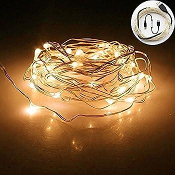Yakamoz usb guirlandes lumineuses led 10m 100 leds comme etoilées lumières led pour noël mariage décoration