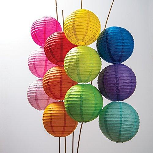 Luna Bazaar 20,3cm Papierlaternen, rund Multi-Colored, 12 Pack