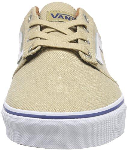 Vans Chapman Stripe, Baskets Basses Homme Beige (T&L/Khaki/White)