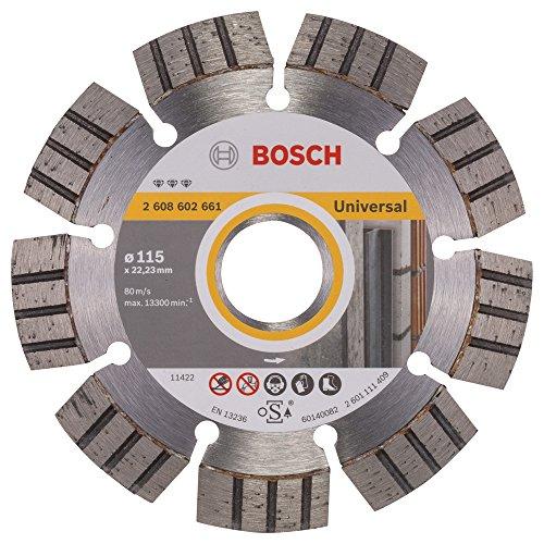 BOSCH Diamanttrennscheibe Best für Universal and Metal, 115 x 22,23 x 2,2 x 12 mm, 2608602661