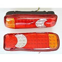 2luci a LED da 12V, Fanale posteriore per camion, camper, rimorchio, telaio ribaltabile, 5funzioni, universalmente applicabili