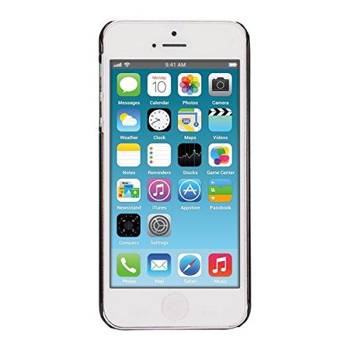 kwmobile Hülle für Apple iPhone SE / 5 / 5S - Backcover Case Handy Schutzhülle - Cover klar Fee Design Gold Transparent Fee Schwarz Transparent