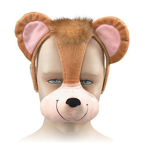 Bristol Novelty EM252 AFFE Maske, Bunt, Unisex-Kinder, Mehrfarbig, Einheitsgröße (Für Erwachsene Maskerade-party-ideen)