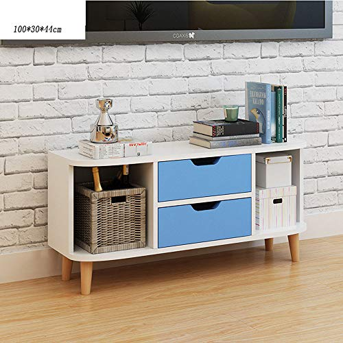 Halodn design industriale moderno woodentv cabinet, consolle di stoccaggio, centro di intrattenimento-lounge, sala da pranzo o soggiorno-108 * 35 * 44cm,blue