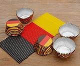 yagma Lollistiele + Muffinformen Deutschlandmix - in den Nationalfarben, passend zur Fußball WM