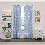 Best Home Fashion Blackout Curtains 100s - Eclipse 15937042X084BLU Cozy Cumulus Kids Window Curtain Panel,Blue,42x84 Review