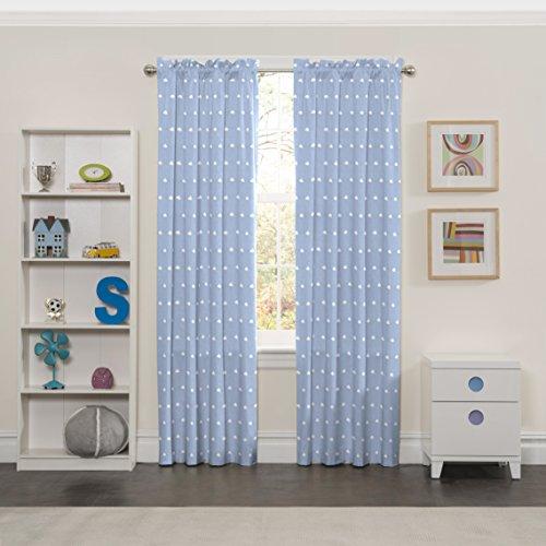 Eclipse 15937042u00a0X 084blu Cozy Cumulus Kinder Fenster Vorhang Panel, blau, 42u00a0x 84