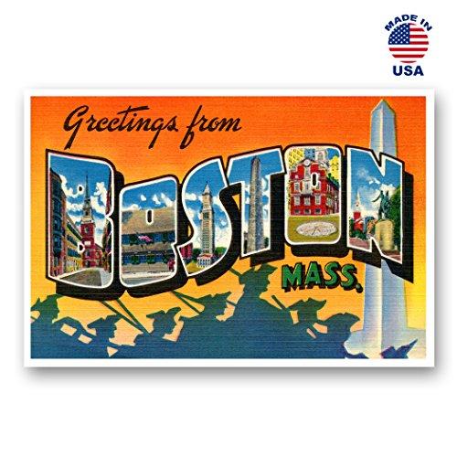Grüße aus Boston Vintage Nachdruck-Postkarten-Set von 20identische Postkarten. Groß Boston, Massachusetts Stadt und Staat Namen Post Card Pack (ca. 1930's-1940's). Hergestellt in Den USA. (Vintage Post Card)